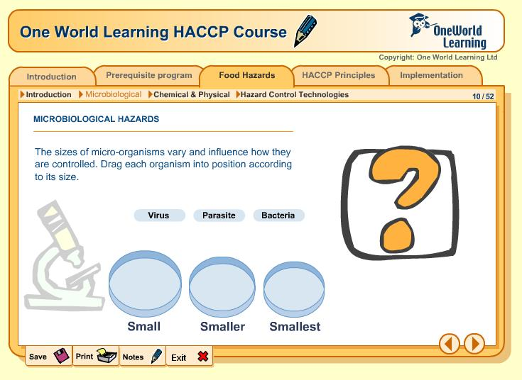 HACCP Training: Online training for HACCP